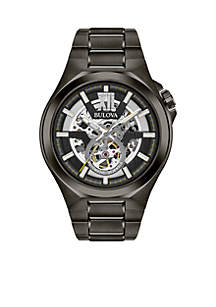 Men's Gunmetal IP Stainless Steel Automatic Collection Bracelet Watch