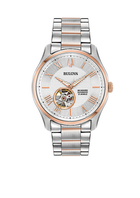 Bulova Mens Two-Tone Stainless Steel Automatic Wilton Bracelet