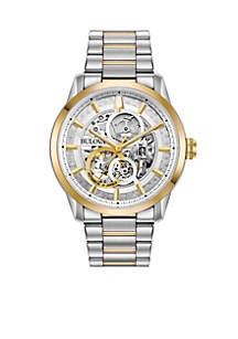 Men's Two-Tone Stainless Steel Automatic Sutton Bracelet Watch