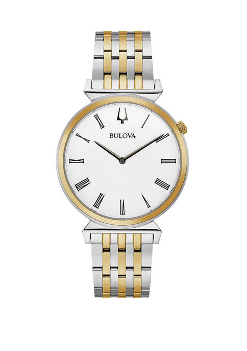 Bulova Mens Regatta Two Tone Stainless Steel Bracelet