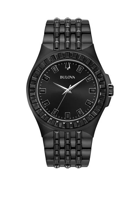 Mens Phantom Black Stainless Steel Bracelet Watch