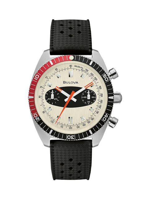 Bulova Mens Surfboard Red and Black Bezeled Watch