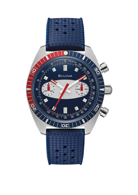Bulova Mens Surfboard Red and Blue Bezeled Watch