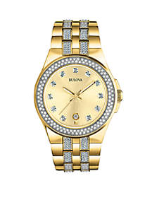Bulova Men's Stainless Steel Crystal Collection Watch