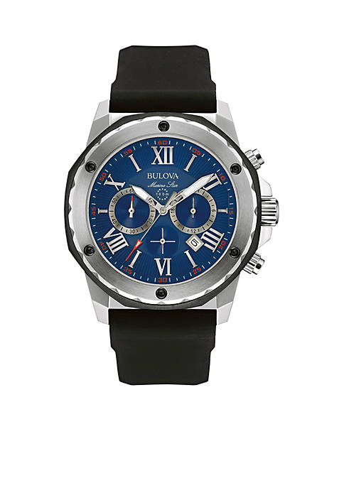 Bulova Mens Blue Dial Chronograph Watch