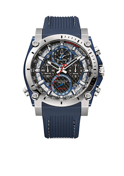 Bulova Mens Stainless Steel Precisionist Watch