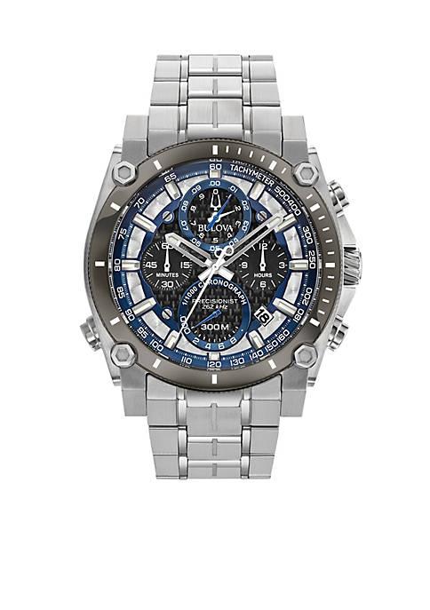 Bulova Mens Stainless Steel Chronograph Precisionist Bracelet