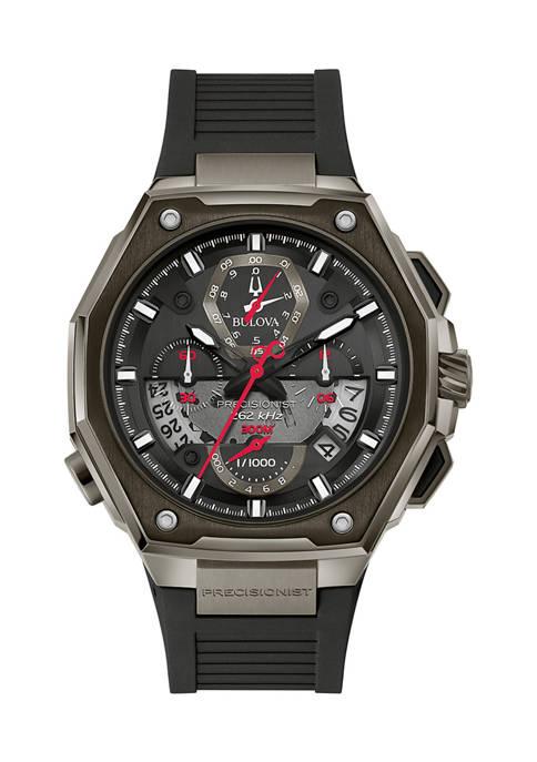 Bulova Black Stainless Steel Precisionist Bracelet Watch