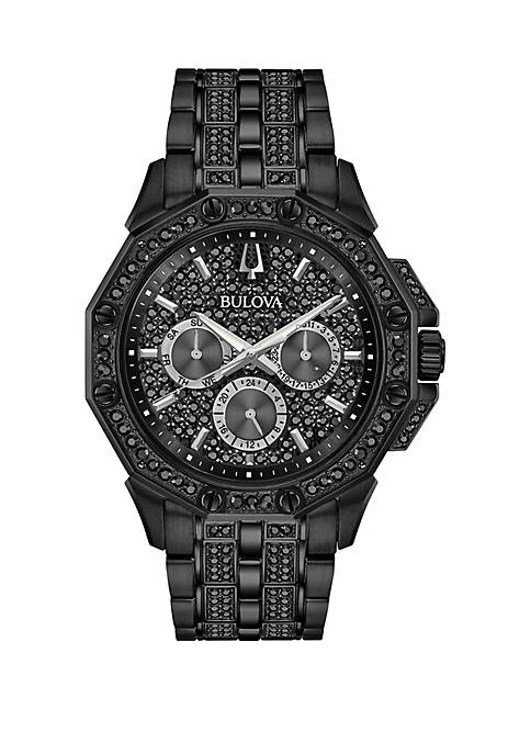 Bulova Black Tone Stainless Steel Octava Swarovski® Crystal
