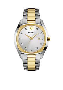 Men's Two Tone Stainless Steel Diamond Watch