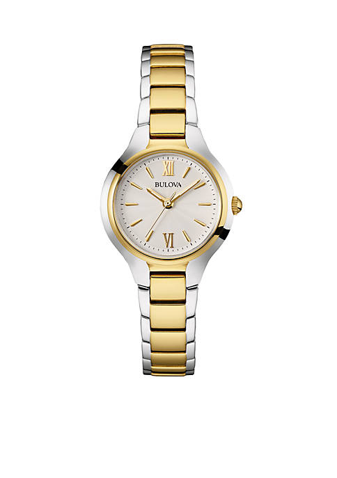 Bulova Womens Two Tone Stainless Steel Watch