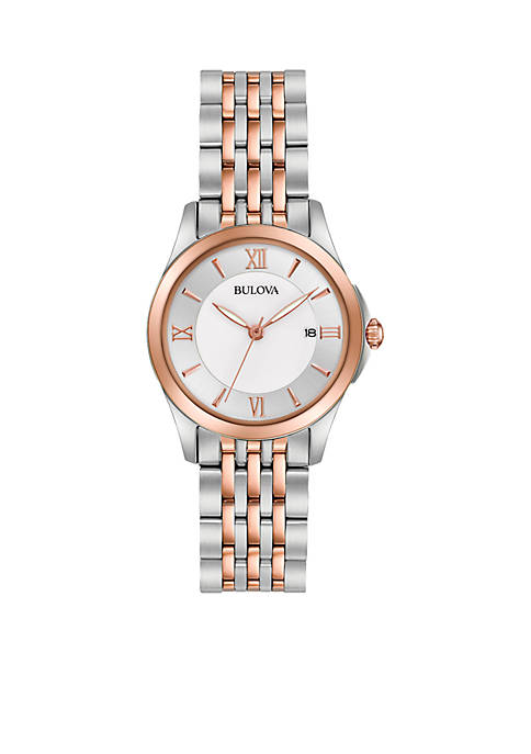 Bulova Womens Classic Two-Tone Watch