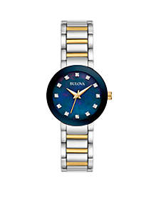 Women's Two-Tone Diamond Accent Watch