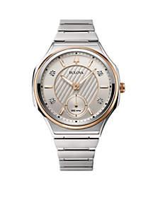 Women's Stainless Steel Curv Progressive Sport Diamond-Accent Bracelet Watch 40mm