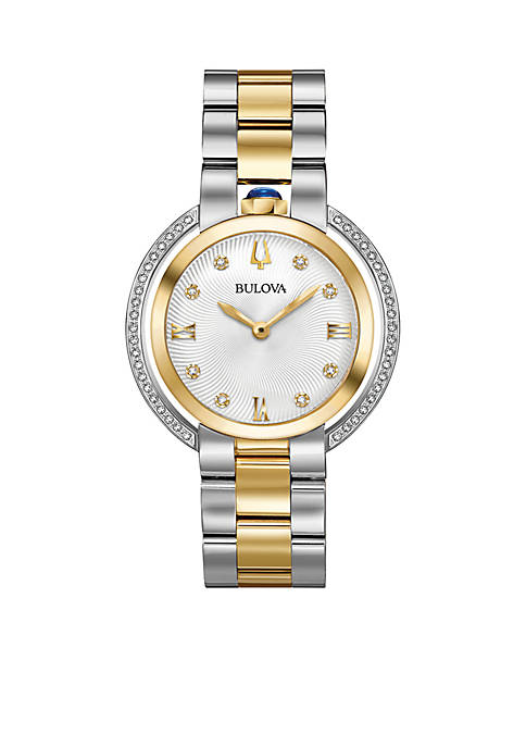 Bulova Womens Rubiayat Two-Tone Watch