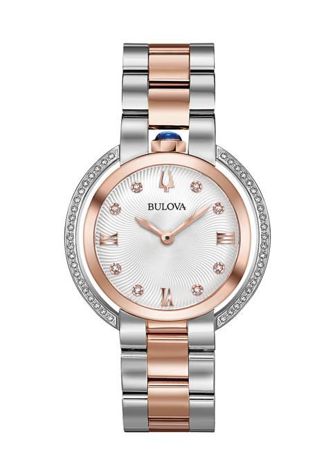 Bulova Ladies Rubaiyat Diamond Dial Watch