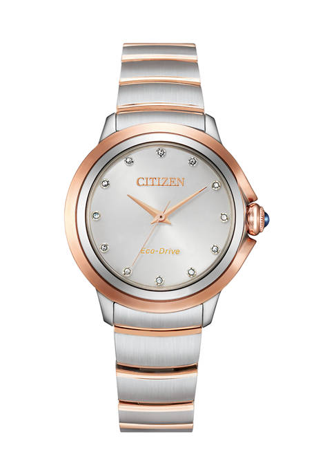 Citizen Womens Ceci Two Tone Stainless Steel Bracelet
