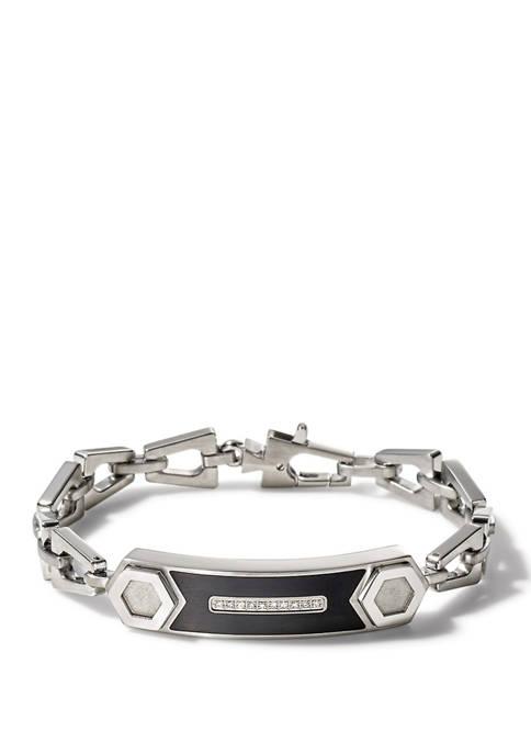 Bulova Steel Epoxy Bracelet