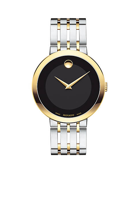 Movado Mens Esperanza Matte Black Watch