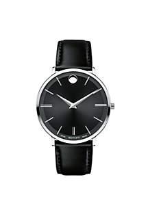 Stainless Steel Black Men's Ultra Slim Watch