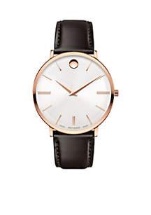 Men's Ultra Slim Rose Gold-Tone Watch