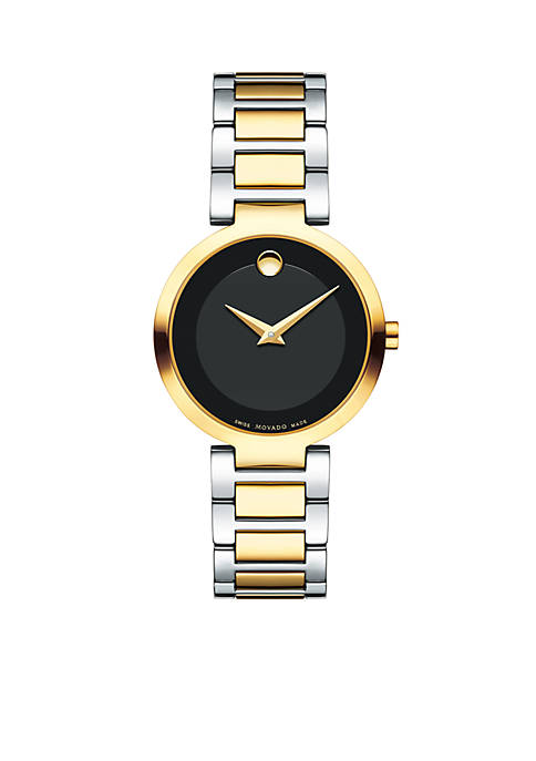 Movado Womens Two-Tone Stainless Steel Modern Classic Quartz