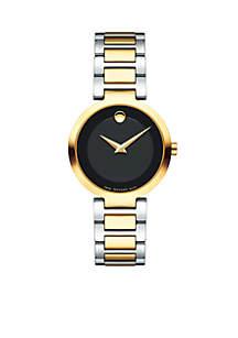 Women's Two-Tone Stainless Steel Modern Classic Quartz Bracelet Watch