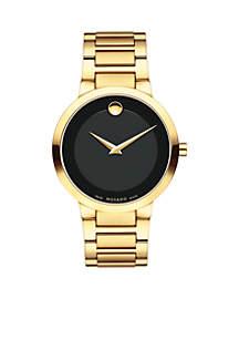 Men's Gold-Tone Modern Classic Quartz Watch