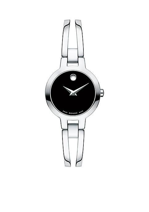 Movado Womens Stainless Steel Amorosa Bangle Watch