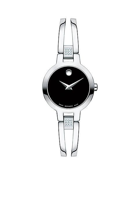 Movado Womens Stainless Steel Amorosa Bracelet Watch