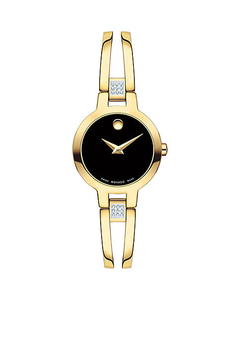 Movado Womens Gold-Tone Amorosa Bangle Watch