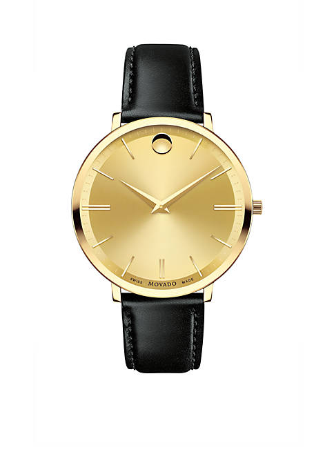 Movado Womens Gold-Tone Ultra Slim Watch