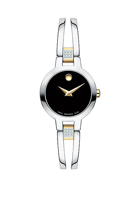2-Tone Stainless Steel Amorosa Bangle Bracelet Watch