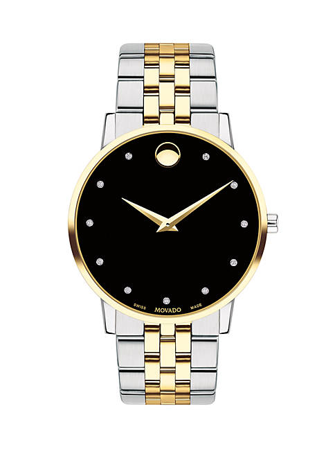 Movado Two-Tone Stainless Steel Museum Classic Bracelet Watch
