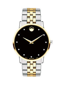 Two-Tone Stainless Steel Museum Classic Bracelet Watch