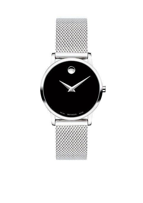 Womens Stainless Steel Classic Museum Mesh Bracelet Watch