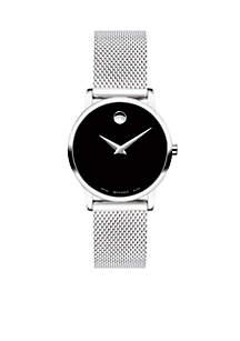 Women's Stainless Steel Classic Museum Mesh Bracelet Watch