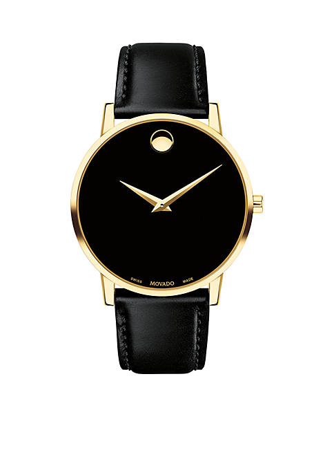 Movado Gold-Tone Stainless Steel Museum Classic Watch