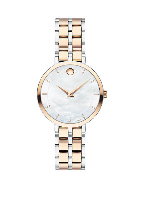 Movado Kora Rose Gold and Silver Bracelet Watch