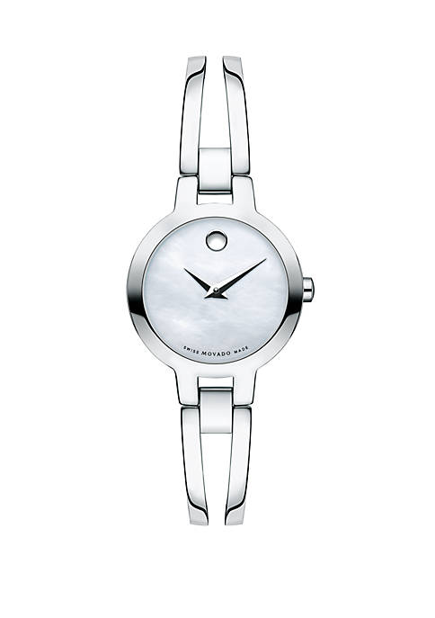 Stainless Steel Amorosa White Mother Of Pearl Bangle Watch