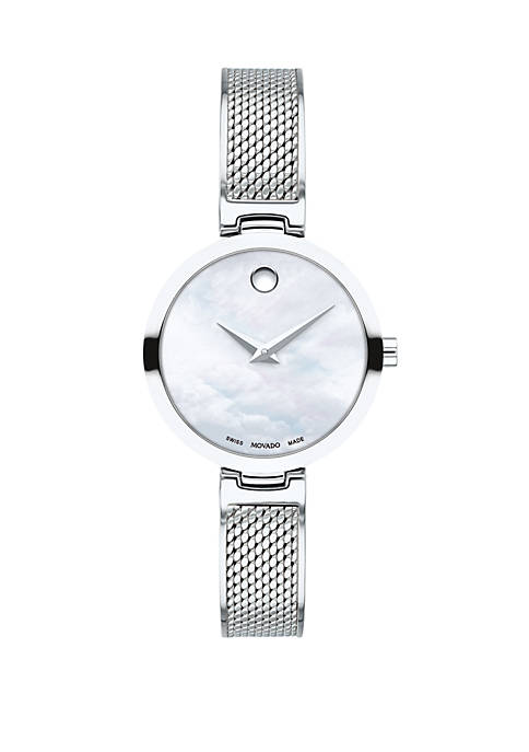 Womens 27 Millimeter Stainless Steel Amika Mesh Bangle Watch