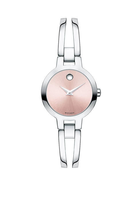Womens Swiss Amorosa Stainless Steel Bangle Bracelet Watch