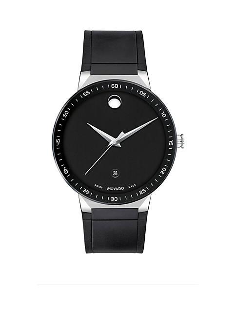 Stainless Steel Sapphire Sport Rubber Strap Watch
