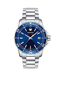 Men's Series 800 Stainless Steel Blue Dial Watch