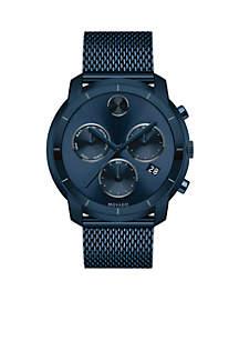 Men's Bold Chronograph Blue Watch
