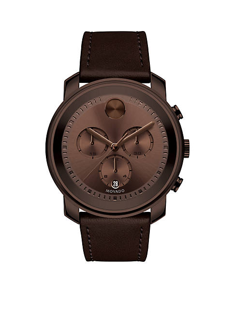 Movado Mens Bold Chronograph Brown Watch