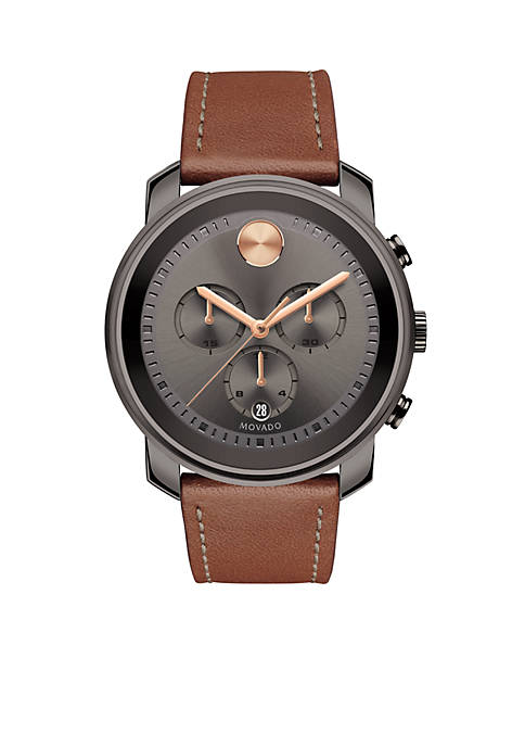 Movado Mens Bold Chronograph Gunmetal Gray Watch