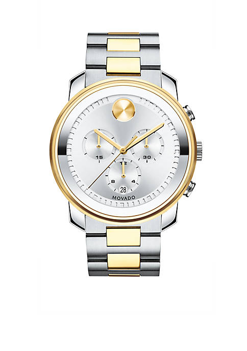 Movado Mens Stainless Steel Bold Chronograph Watch