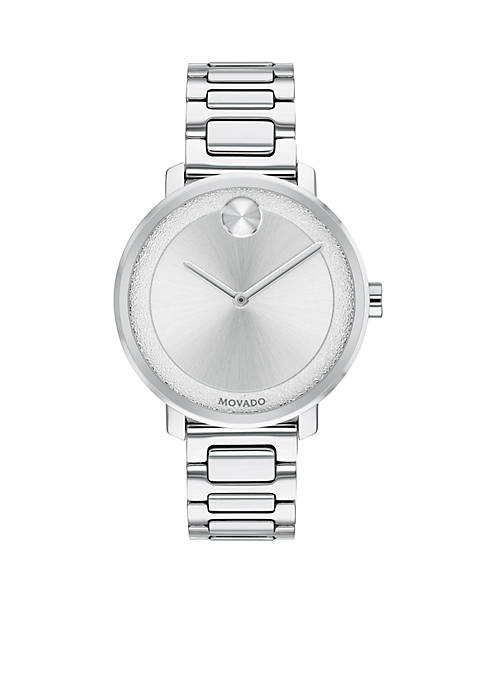 Movado Womens Stainless Steel Sugar Watch