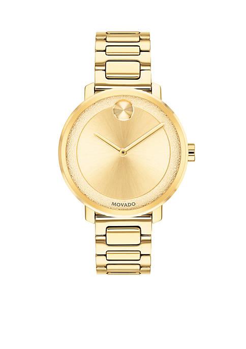 Movado Womens Yellow Gold Sugar Watch